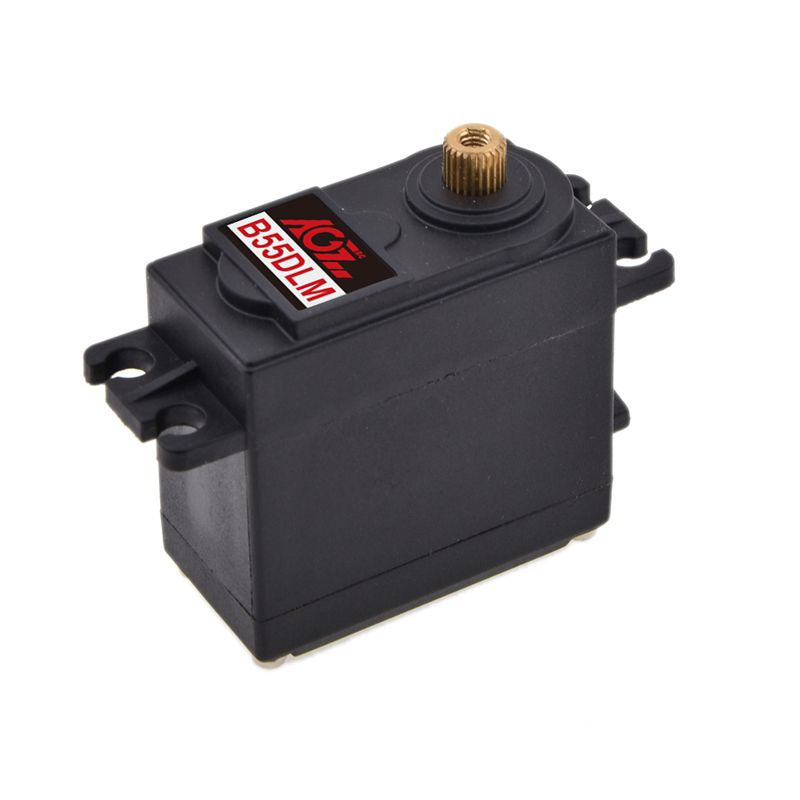 AGFRC B55DLMA Plastic Case Metal Gear Large Torque 15KG Analog Servo for RC Helicopter