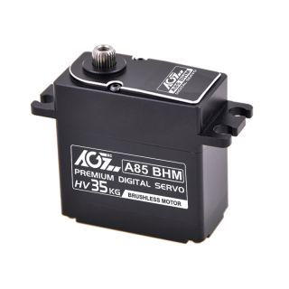 A85BHM High Power HV Steel Gear 35KG Splashproof Brushless Servo for RC Boat