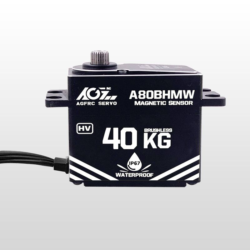 AGFrc A80BHMW High Torque 40KG Magnetic Angle Sensor Premium Waterproof Digital Servo for 1/10 Scale RC Car