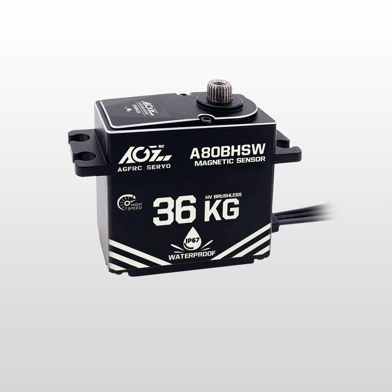 A80BHSW IP67 Waterproof 36KG High Speed High Torque Magnetic Sensor Servo