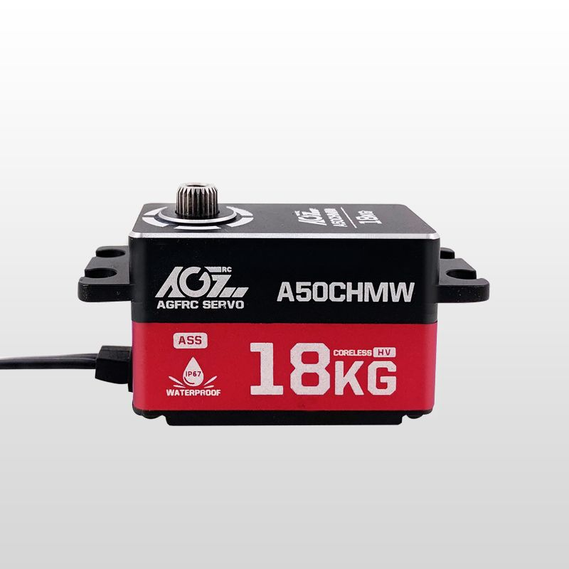AGFrc A50CHMW Pragrammable HV 18KG Super Torque Low Profile Waterproof Coreless Servo With Magnetic Angle Sensor for RC Cars