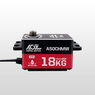 AGFrc A50CHMW Pragrammable HV 18KG Super Torque Low Profile Waterproof Coreless Servo