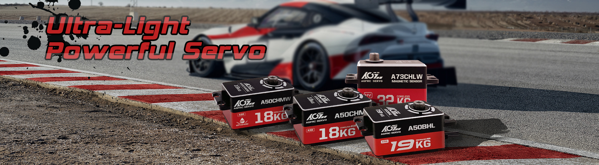 AGF A50 Series Ultra Light Weight Super Power Low Profile RC Racing Servo
