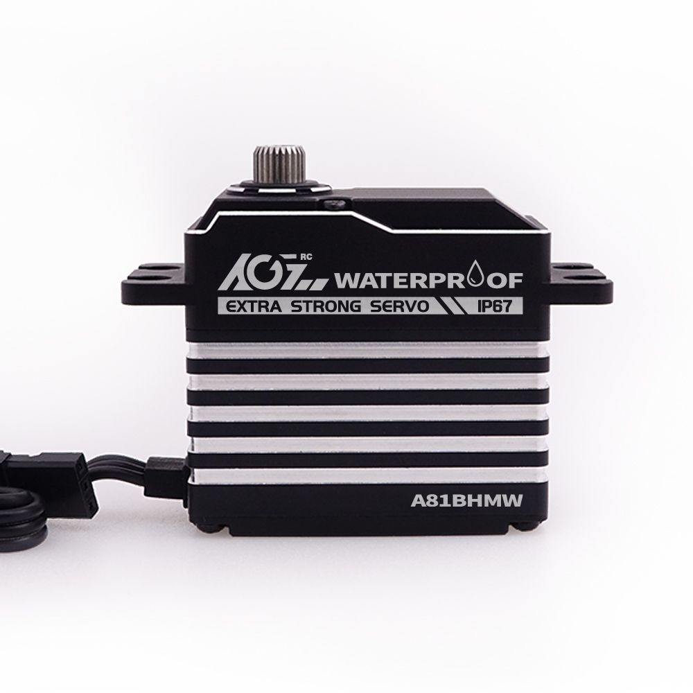 A81BHMW 45KG Super Torque Waterproof 360 Degree Continuous RotationProgrammable Digital Brushless Standard Servo