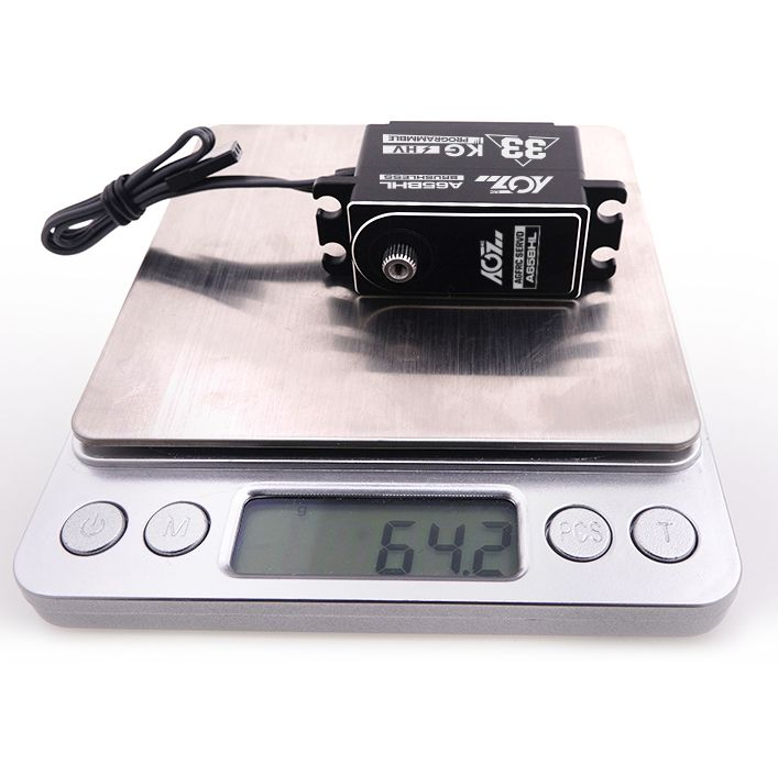 A65BHL 180 Degree 30KG 0.08S Large Torque High Speed Heighten Low Profile Metal Case Programmable Brushless Digital Servo