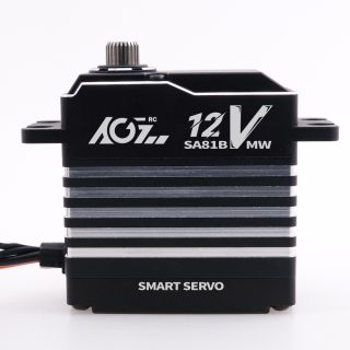 SA81BVMW 0.11S 42KG High Torque 360 Degree Continuous Rotation Brushless Programmable Waterproof 12V Smart Servo