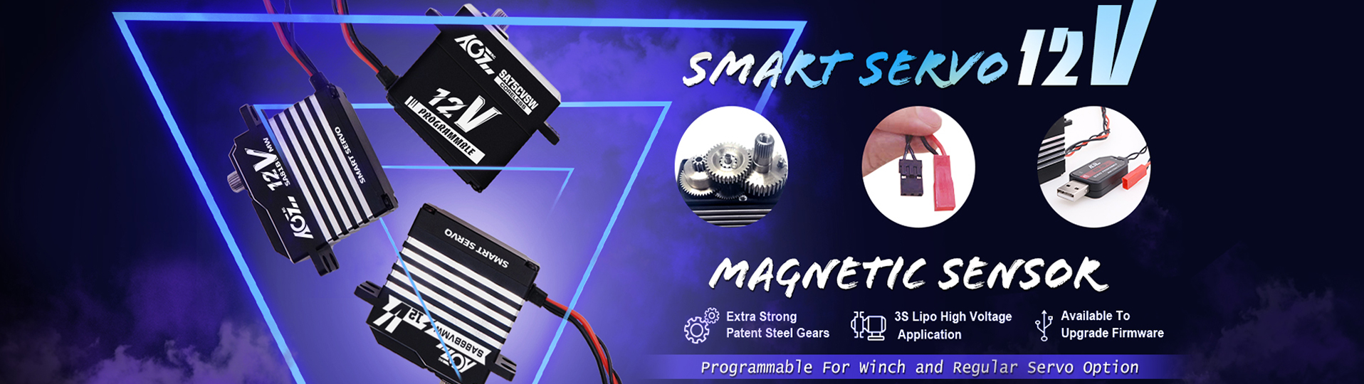 Programmable 12V Smart Servo