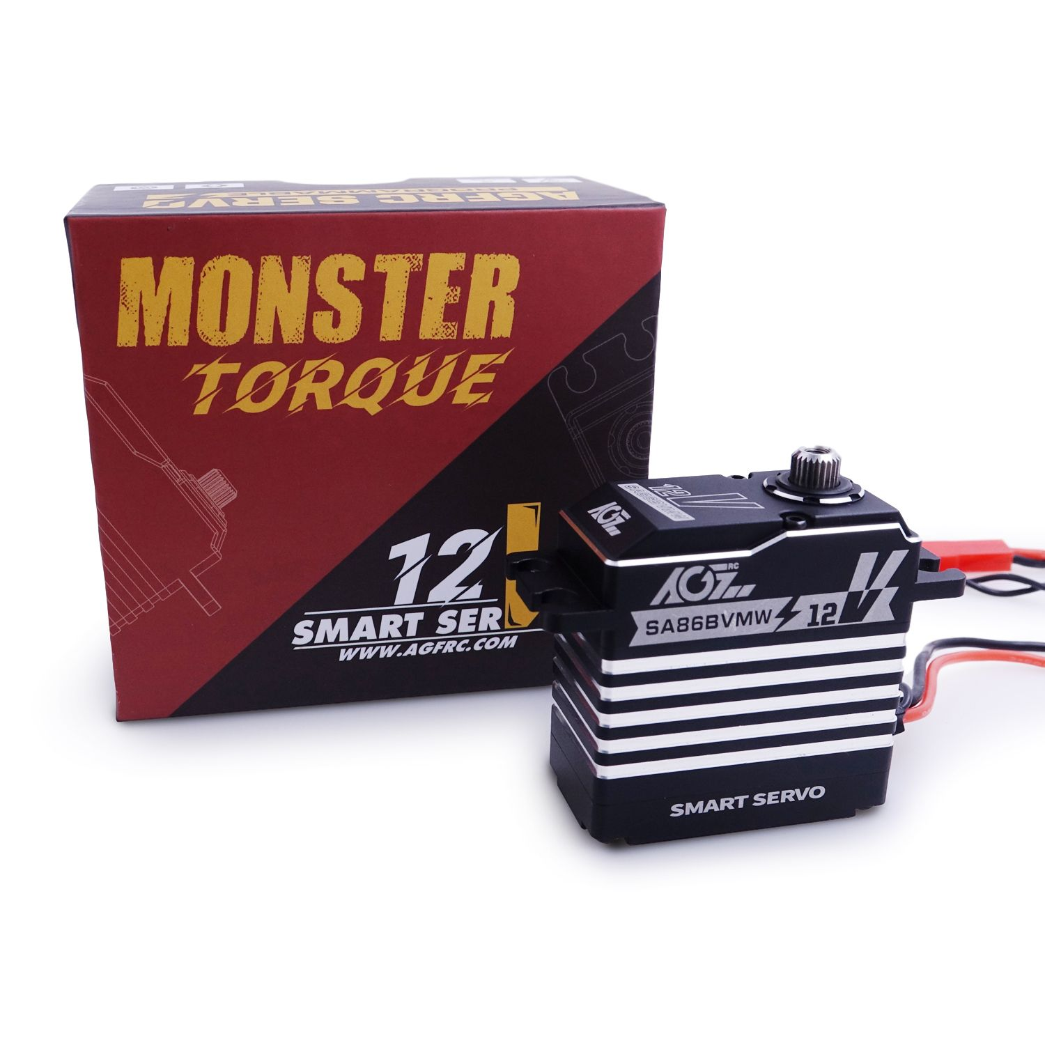 AGFrc SA86BVMW Three Ball Bearing 834oz-in Monster Torque Waterproof Digital Servo for 1/8 1/10 Crawler Buggy