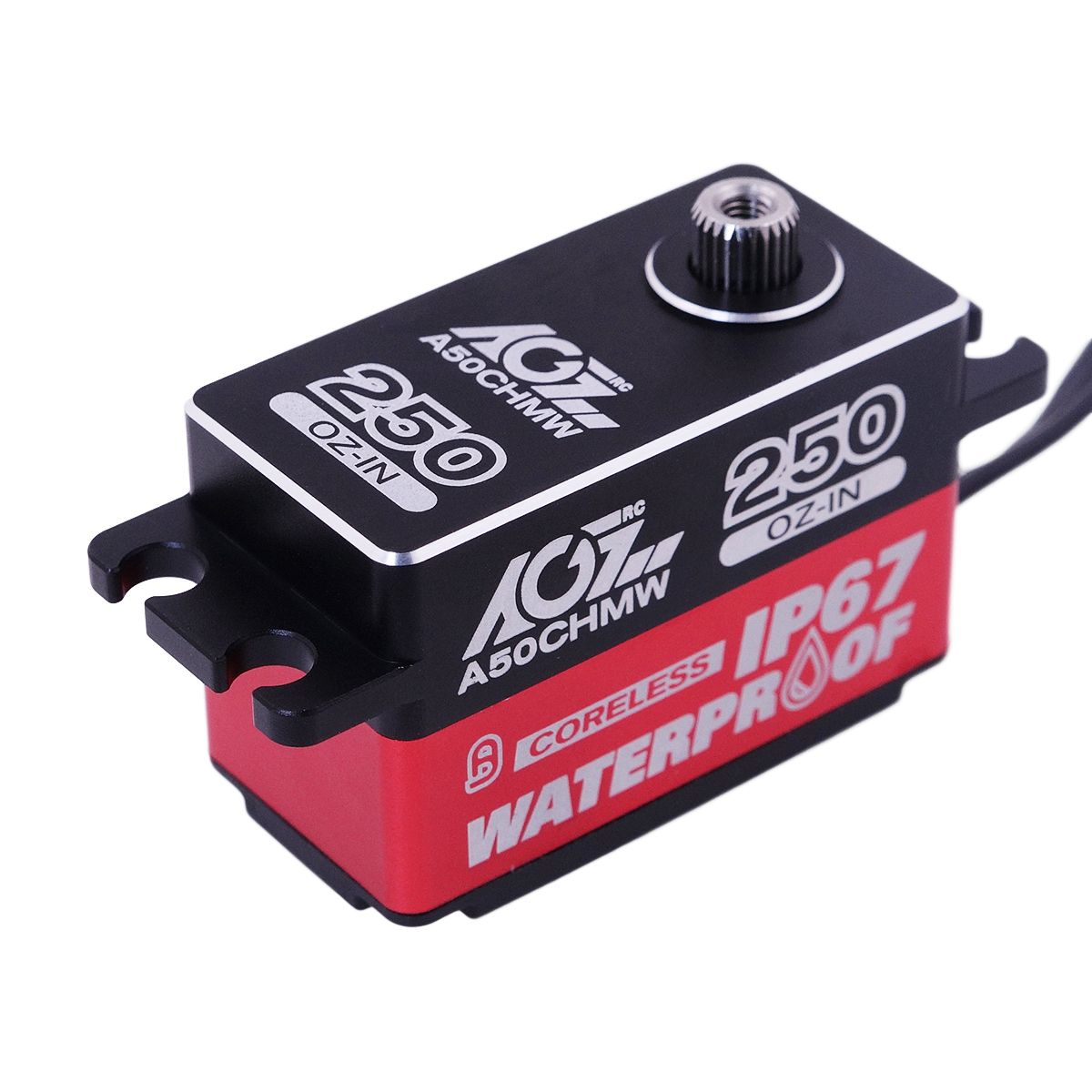 AGF A50CHMW 250oz-in Fully Waterproof Steel Gear Low Profile Waterproof Servo for 1/10 RC Touring Car