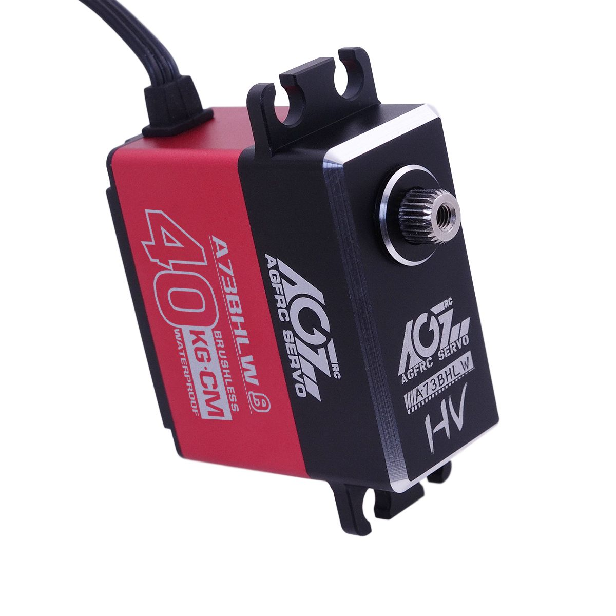 A73BHLW Good Price 35KG 7.4V Aluminum Flat Case Waterproof Brushless Servo for 1/10 RC Buggy/ Crawler/ Boat