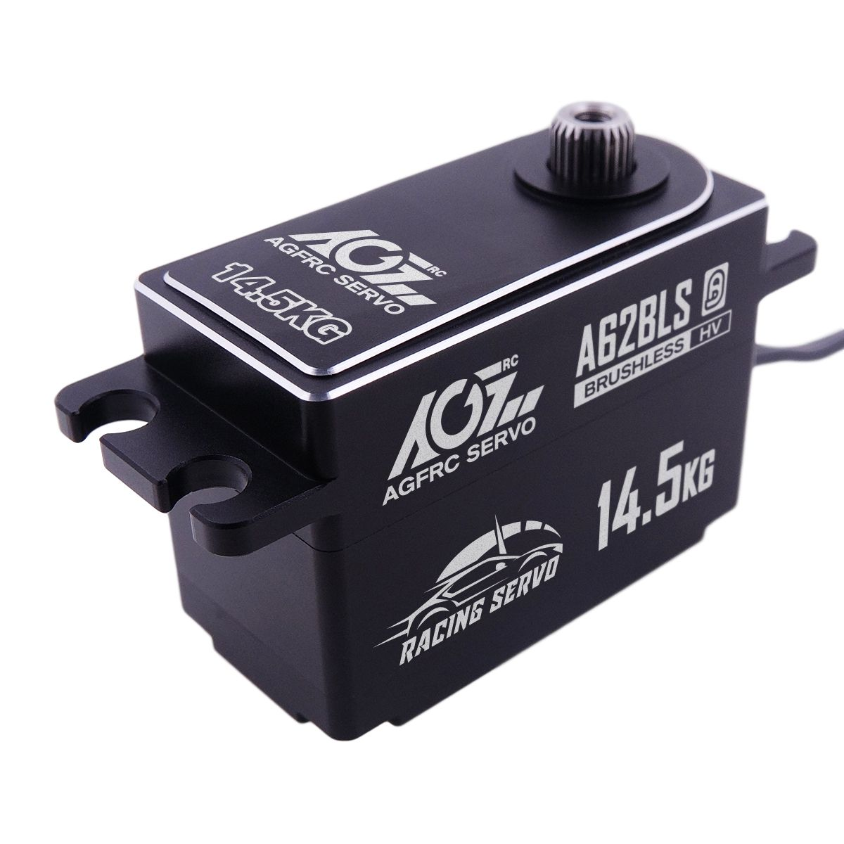 A62BLS 0.062S 14.5KG High Speed Low Profile Steel Gear Servo For 1/8 Racing Car