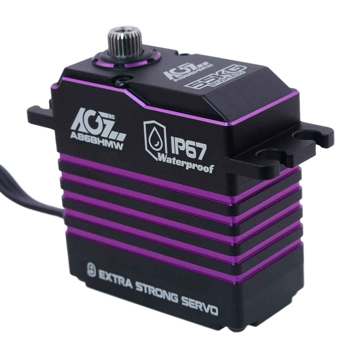 A86BHMW 180 Degree Waterproof Programmable Brushless 55KG Monster Torque Servo For 1/8th Scale Short Course Trucks