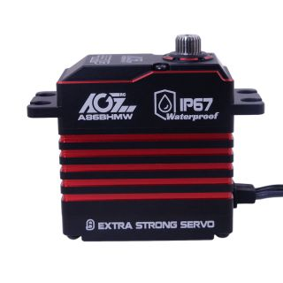 A86BHMW Red 88.5g Steel Gears HV 765oz-in Brushless Programmable Waterproof IP67 Servo