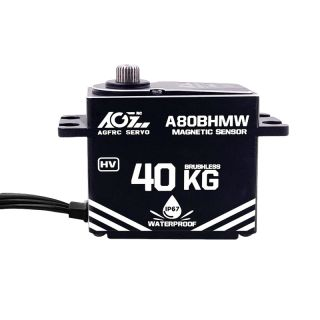 A80BHMW High Torque 40KG Premium Waterproof Digital Servo With Waterproof Magnetic Sensor