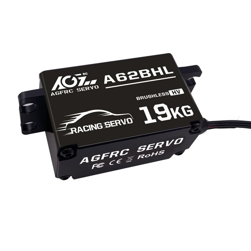 AGFrc A62BHL 19KG Extra Torque HV Brushless Progammable Digital Low Profile Steering Servo for RC Drift