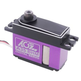 A35BHM High Speed 0.065sec 8.5KG Titanium Gear HV Brushless Middle Size Servo for 1/12 Vehicle