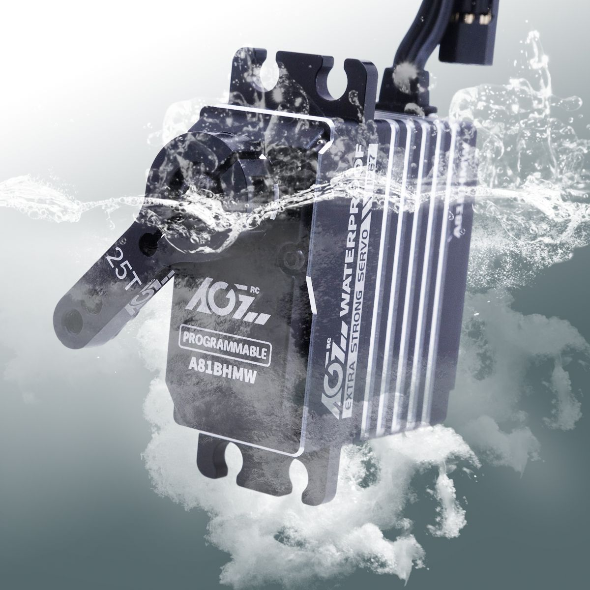 AGFRC A81BHMW HV 45KG Super Torque Waterproof Programmable Digital Waterproof Standard Servo