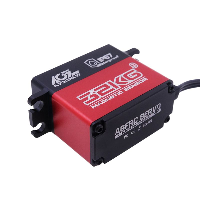 AGFrc Metal Case A73CHLW 29KG 0.145S Large Torque Magnetic Waterproof Digital Servo for 1/10 Rock Crawler Buggy Truck Boat Airplane