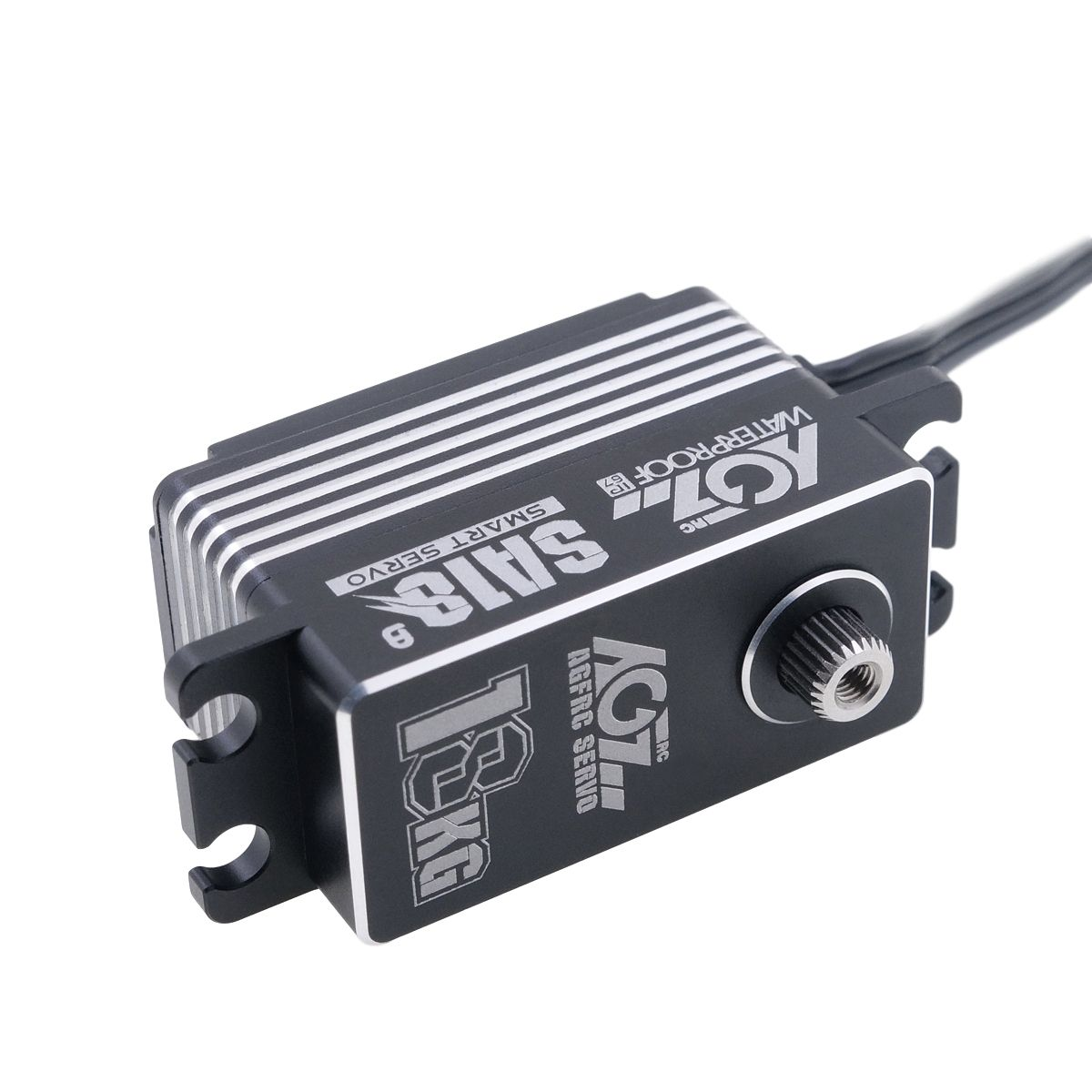 SA18 Wide Voltage Capability Aluminum Case 180 Degree Programmable Low Profile Servo for RC Boat