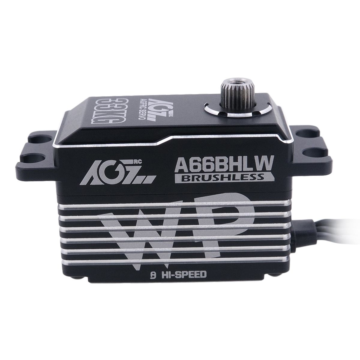 AGFRC A66BHLW 33KG Upgrade Steel Gears Heat Sink Case 0.068Sec High Speed Low Profile Brushless Waterproof Servo For 1/8 RC Drift Touring Car Boat Airplane