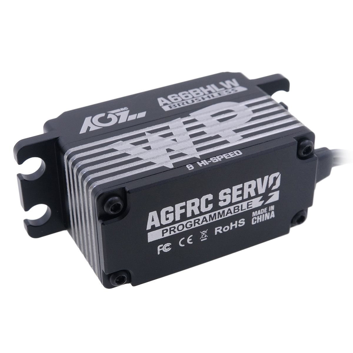 AGFrc Brand New 0.09Sec 25KG Super Torque Low Profile Programmable Waterproof Digital Brushless Servo A66BHLW
