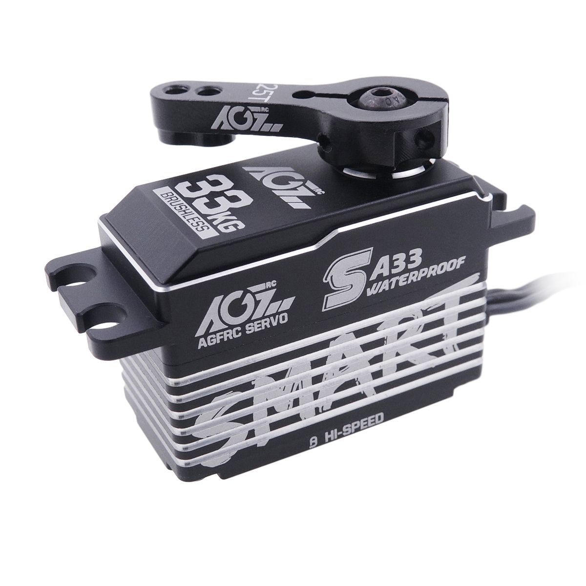 AGFRC SA33 Waterproof Feature HV Superb Speed 0.068Sec 33KG Brushless Low Profile Smart Servo for Winch and Regular Servo Selection