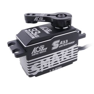 SA33 Waterproof Feature HV Superb Speed 0.068Sec 33KG Brushless Low Profile Smart Servo for Winch and Regular Selection