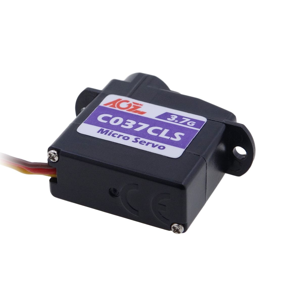 AGFRC C037CLS Super Light 3.7g Fast Response Plastic Micro Servo 0.55kg / 0.06Sec For 1s Power Application