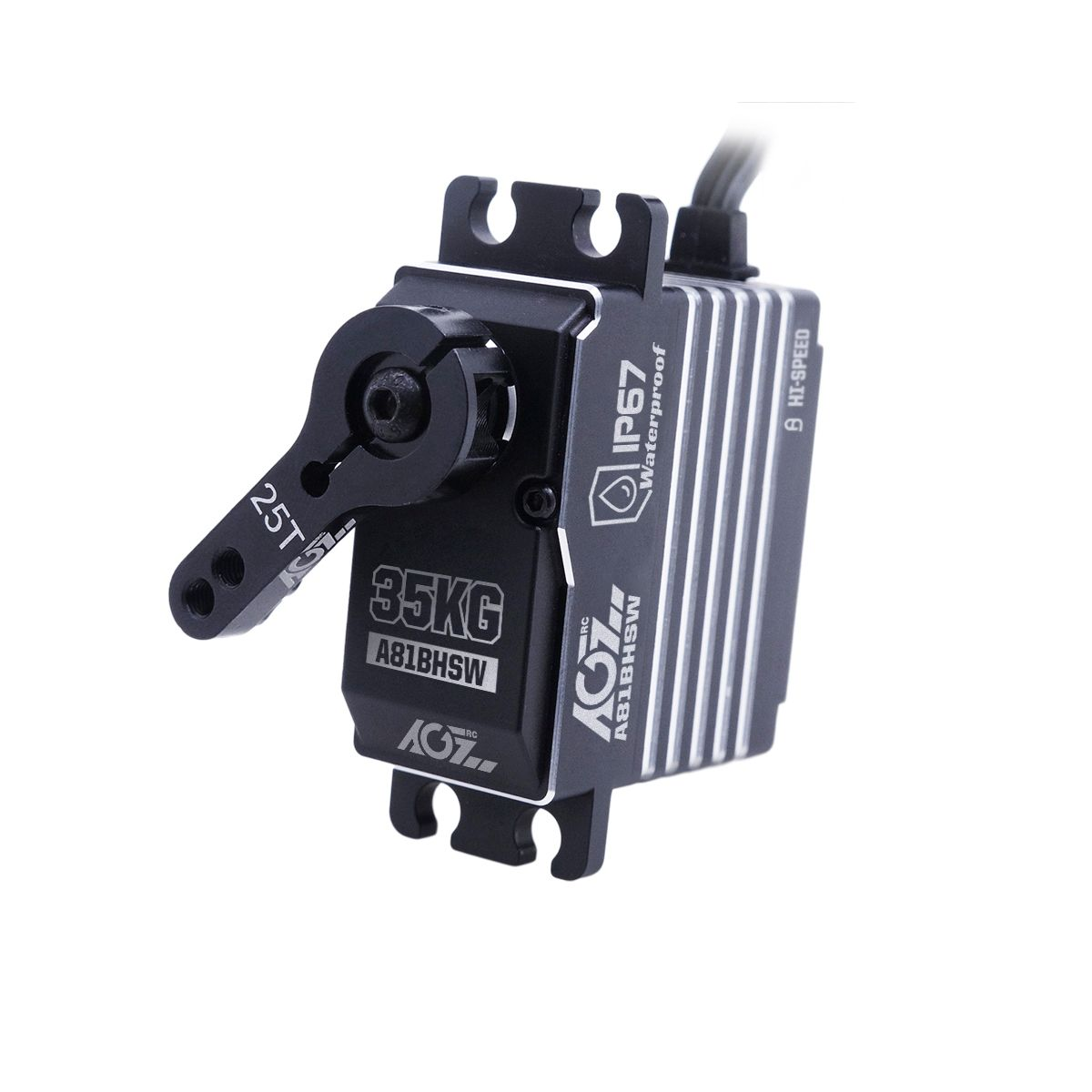 AGFRC A81BHSW 0.075s High Speed STD Size Steel Gear Programmable Brushless Extra Strong 35KG Waterproof Servo For 1/8 RC 4WD Car