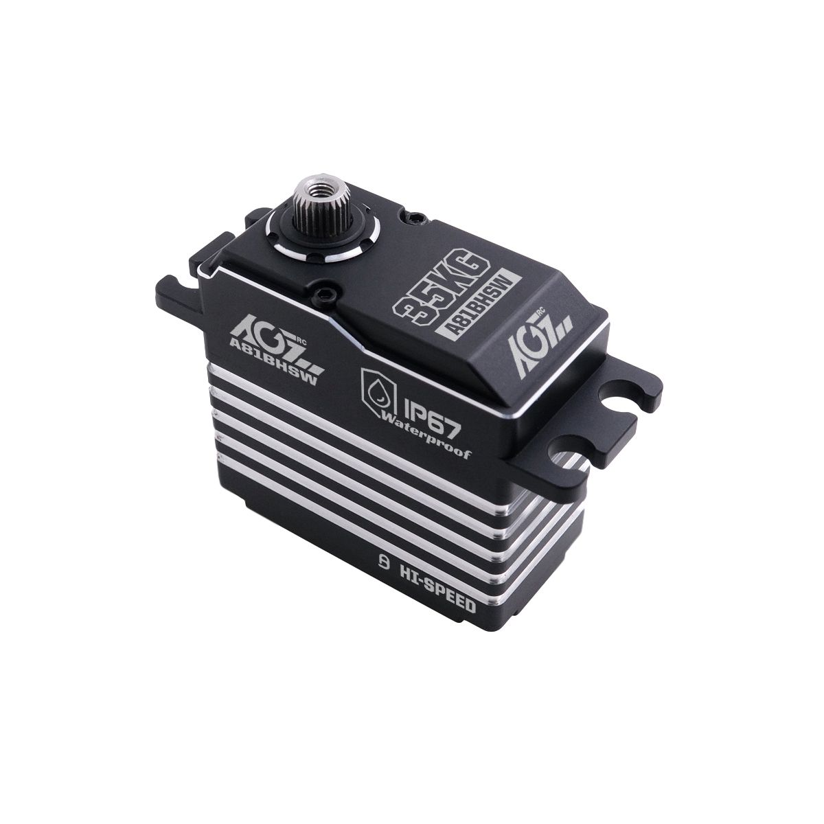 AGFRC A81BHSW HV 0.075s High Speed STD Size Extra Strong Steel Gear Magnetic Encoder Brushless Digital WP Servo For 1/10 RC Competition Boat