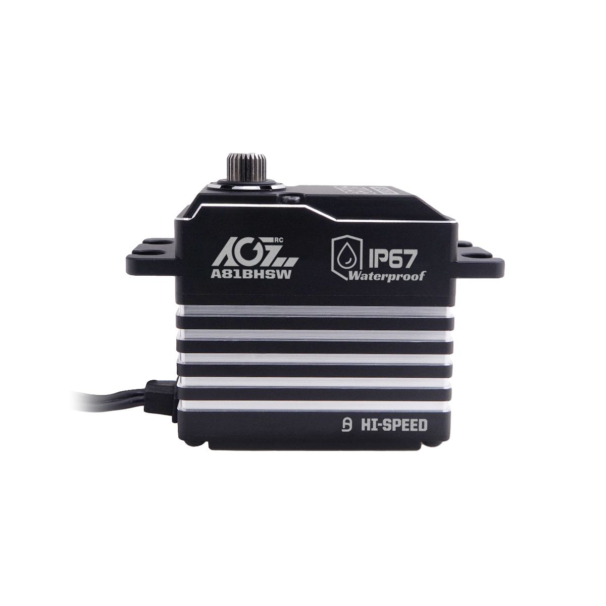 AGFrc A81BHSW High Voltage 25T Spline Ultra Torque CNC Machining Digital Fully Waterproof Brushless WP Servo 31KG 0.086Sec Traxxass Crawler