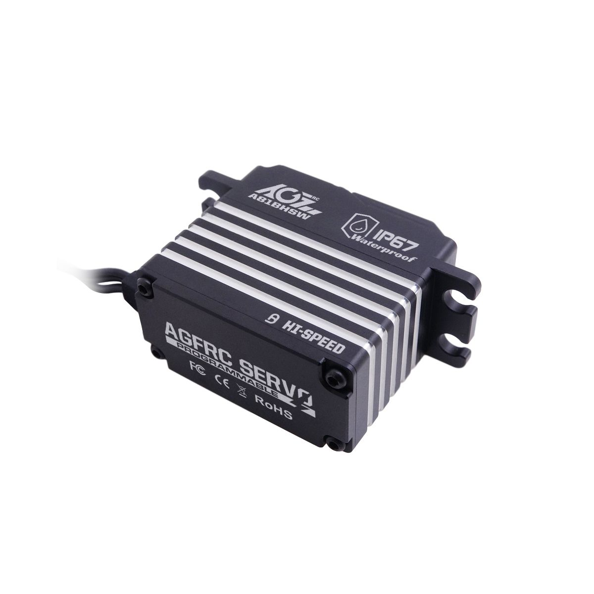 AGF RC A81BHSW 28KG 0.097Sec STD Size Steel Gear Programmable Brushless Magnetic Waterproof Extra Strong Servo For Airplane Robot Arm