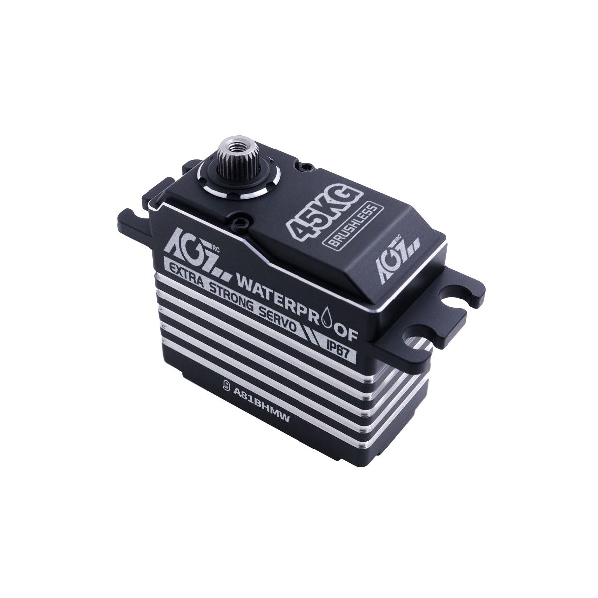 AGFrc A81BHMW 45KG Superb Torque Aluminum Case IP67 Waterproof Digital Servo for 1/8 RC Buggy