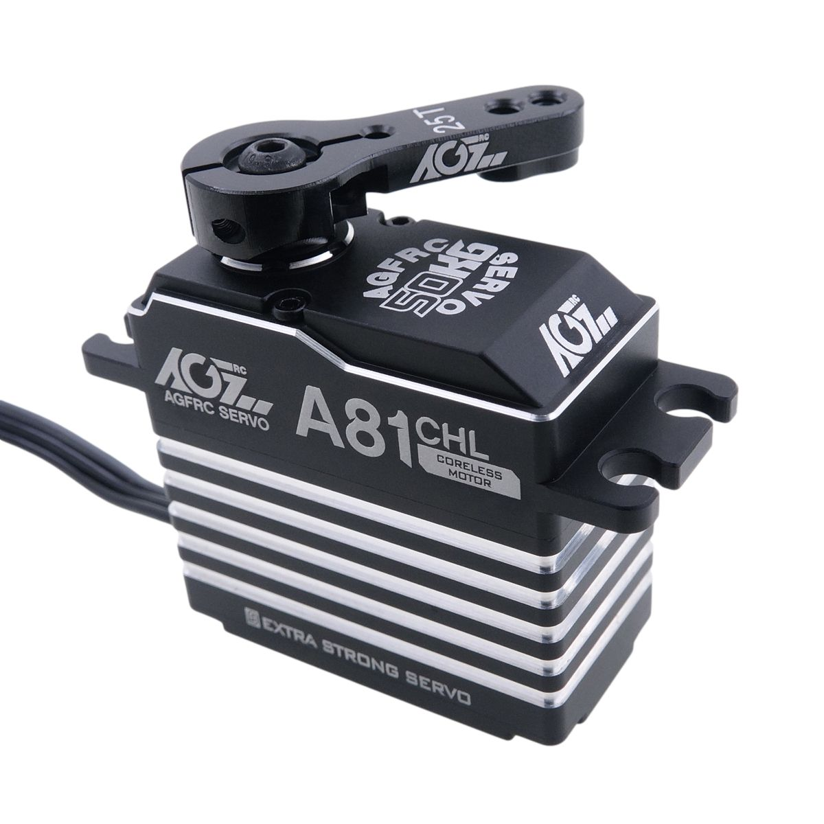 AGFRC A81CHL 7.4V 46KG 0.180Sec High Voltage Standard Size Coreless Servo for RC Cars Aircrafr Robot etc.