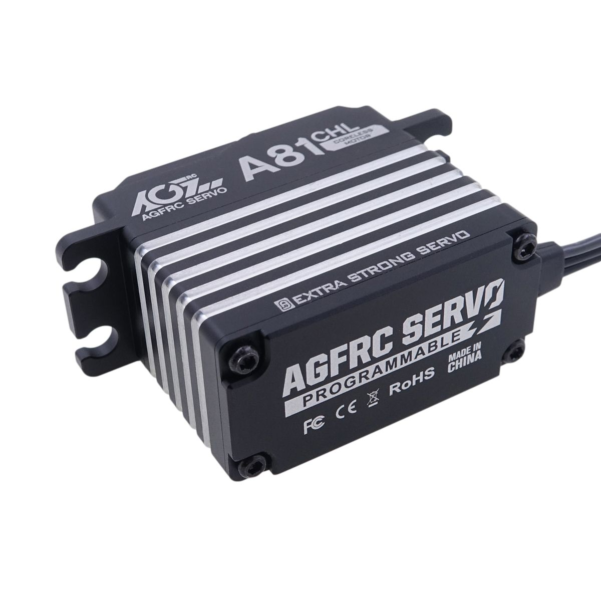 AGFRC A81CHL Heat Sink Case Extra Strong Gear Train 50KG HV Coreless Servo