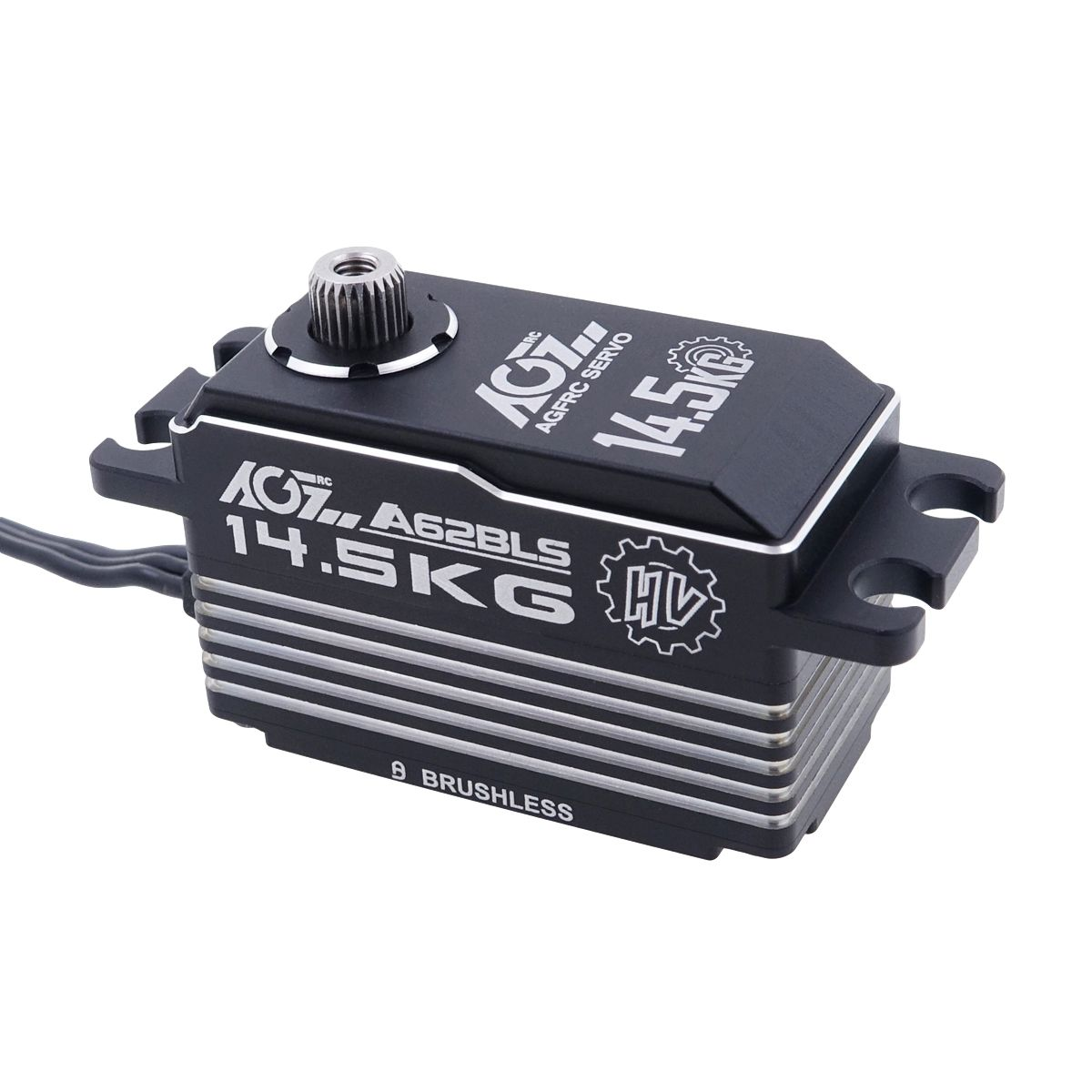 AGFRC A62BLS Fast Cooking Heat Sink Case 14.5KG 0.062S Brushless Low Profile Servo For 1/10 RC Car Boat Aircraft