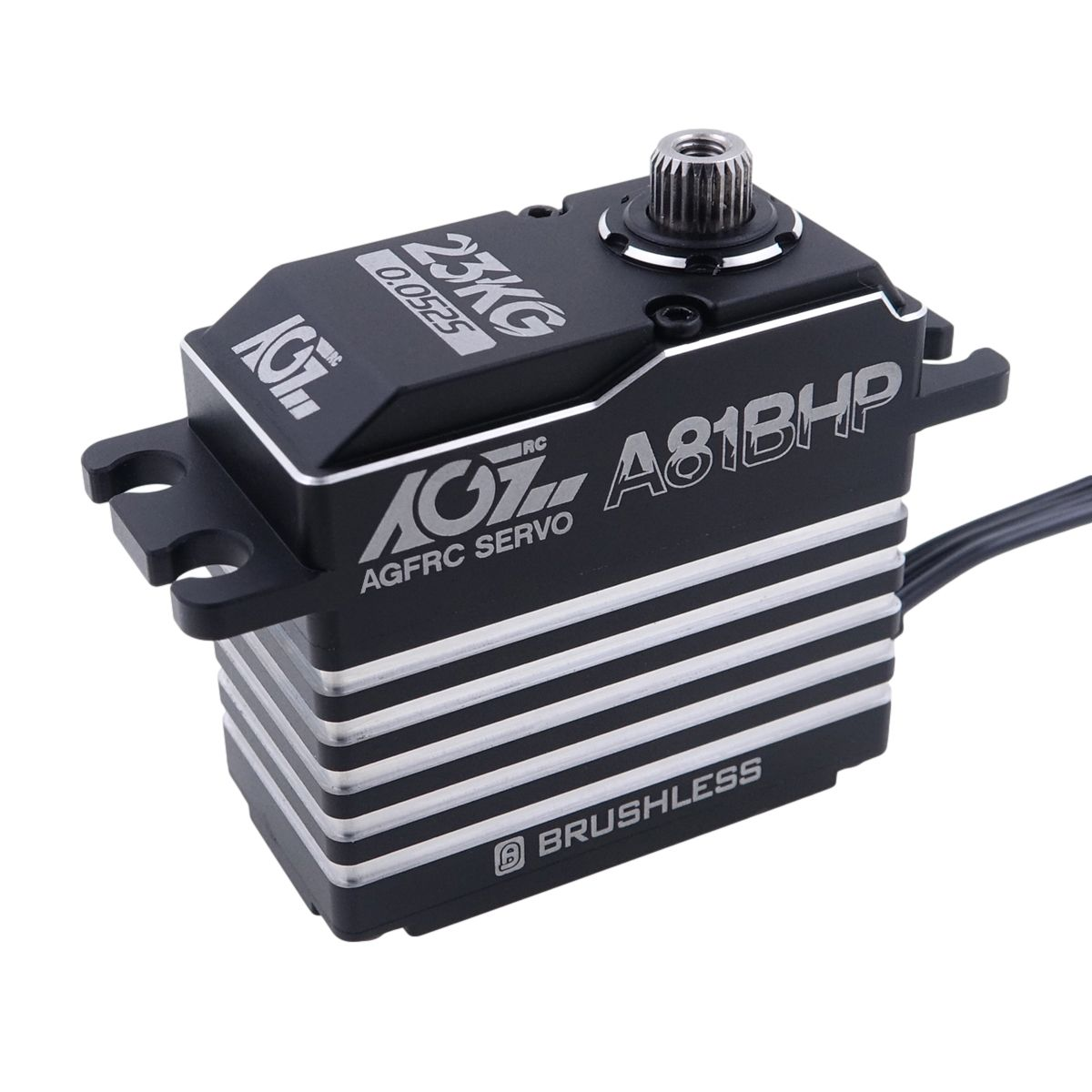AGFRC A81BHP 23KG 0.052s Ultra Fast Speed HV Steel Gears Brushless Standard Servo for 1/8 on-road cars 1/10 nitro touring