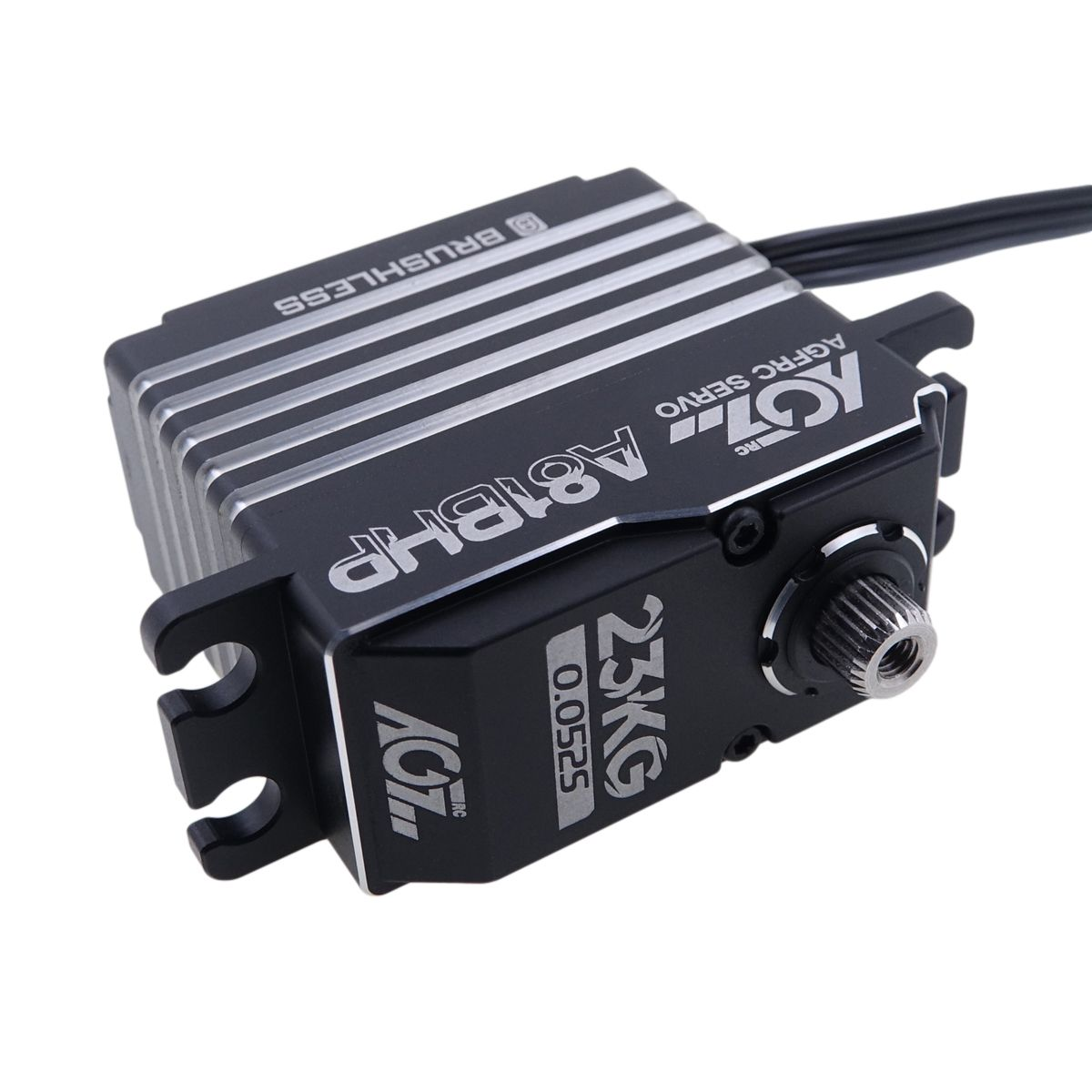 A81BHP Aluminum Case 19KG 0.06Sec 7.4V Robust Steel Gears and Shafts 180 Degree Brushless Servo Motor for RC Helicopter Robot Car
