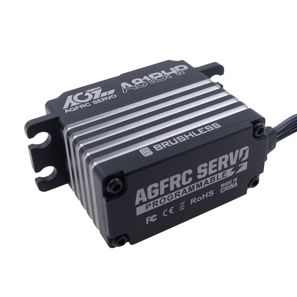 AGFRC A81BHP 2s Lipo Capatible 23KG 0.052Sec HV Programmable Brushless Digital Standard Size RC Servo Motor For RC Drift Rudder Crawler Buggy Truck