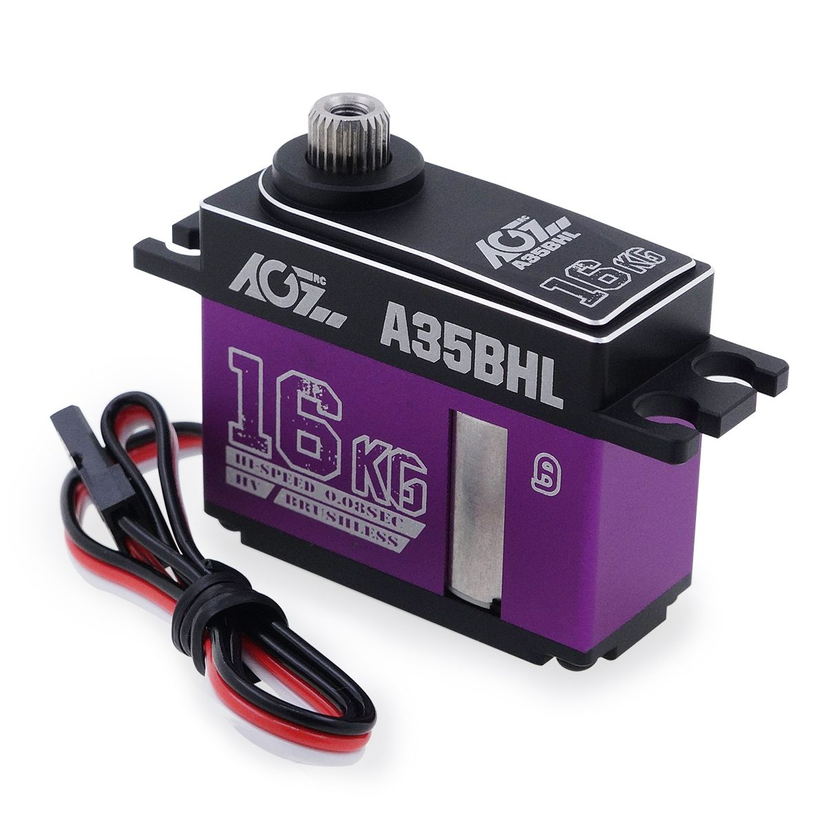 AGFRC A35BHL16KLG Super Torque 0.08Sec HV Programmable Digital Middle Size Brushless Servo for RC Helicopter Glider Aircraft Robot Car etc.
