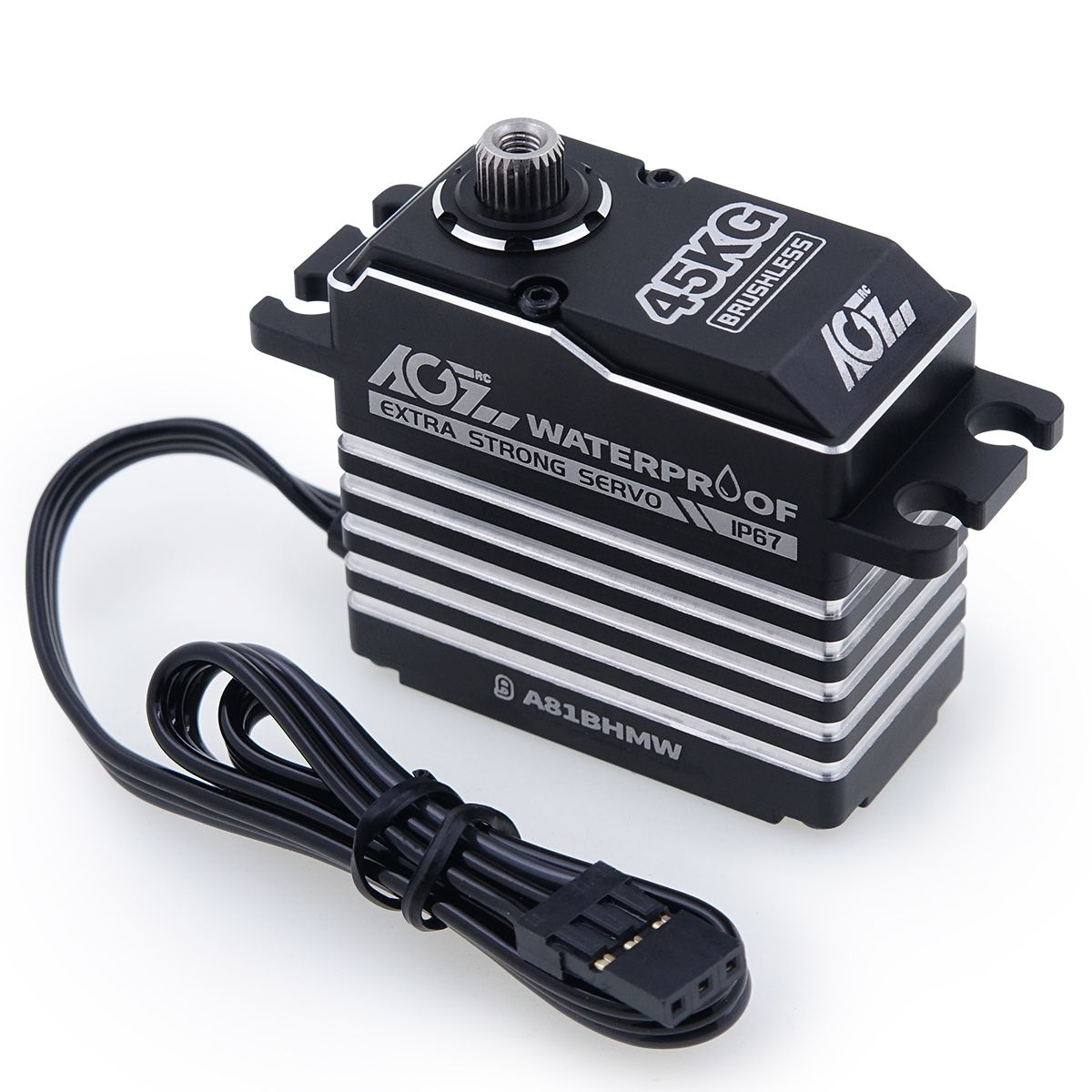 AGFRC A81BHMW 45KG Super Torque Waterproof 360 Degree Continuous RotationProgrammable Digital Brushless Standard Servo For 1/8 Monster Truck Buggy Car Boat Aircraft