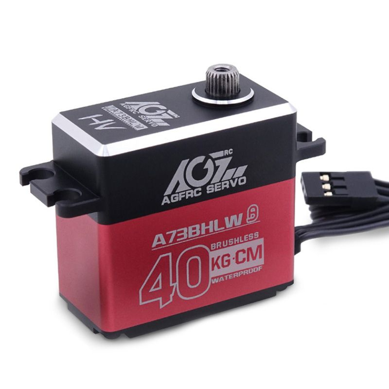 AGFRC A73BHMW 40KG Aluminum Case Metal Gear Programmable Brushless Servo For RC Cars
