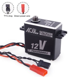 SA75CVSW 3S Lipo 45KG 0.09Sec High Torque Programmable Coreless Motor Heightened Standard Digital Smart Servo