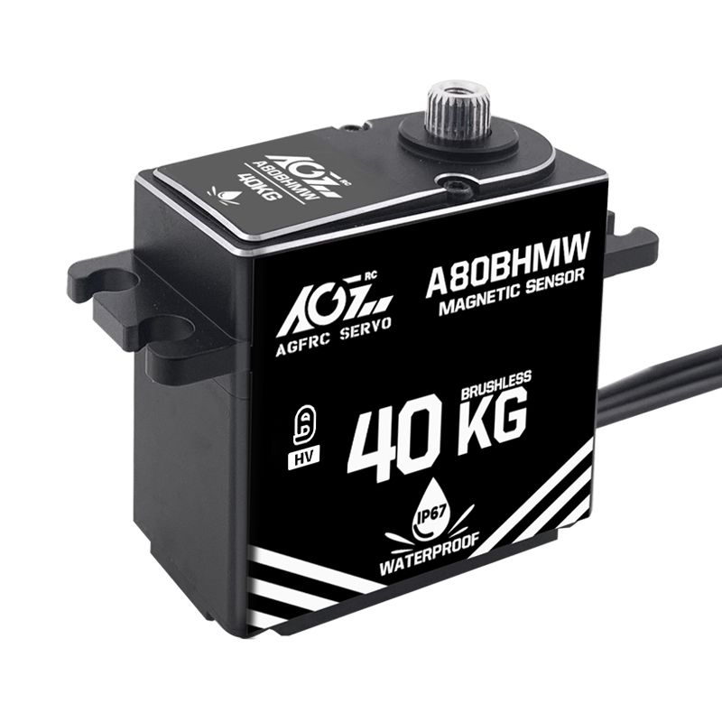 AGFrc A80BHMW High Torque 40KG Magnetic Angle Sensor Premium Waterproof Digital Servo for 1/10 Scale RC Car Boat Aircraft Model