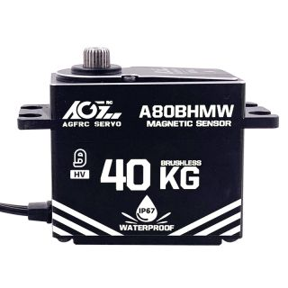 A80BHMW High Torque 40KG 0.085Sec Premium Waterproof Burshless Digital Servo With Waterproof Magnetic Sensor